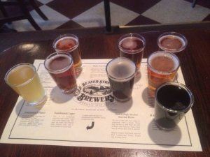 Beer Flight @ Beaver Street. Only 75 cents a pop!